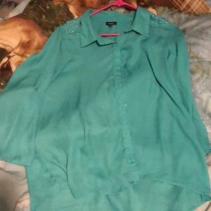 Tops - Green sheer like shirt